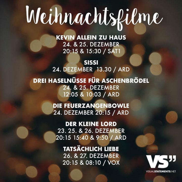 Visual Statements®️ Weihnachtsfilme 2017 Sprüche / Zitate / Quotes / Leben / Freundschaft / Beziehung / Liebe / Familie / tiefgründig / lustig / schön / nachdenken