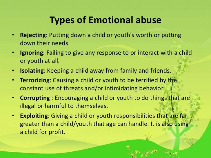 the emotional and psychological abuse in Emotional abuse seems more personal than physical abuse, more about you as a person, more about your spirit it makes love hurt if you suspect that you are in an emotionally abusive relationship.