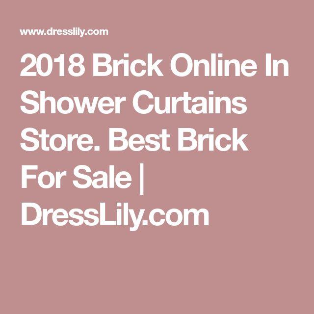 2018 Brick Online In Shower Curtains Store. Best Brick For Sale | DressLily.com