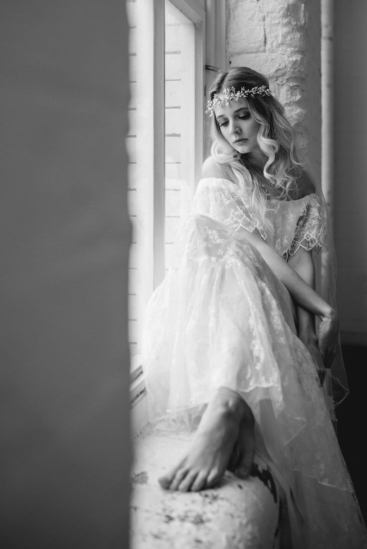 off the shoulder lace hippie boho vintage wedding dress from Archive 12 ireland