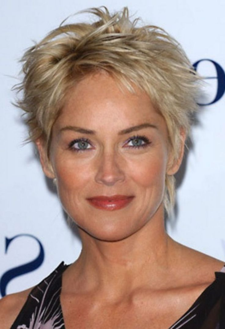 sharon stone short hair - Google Search