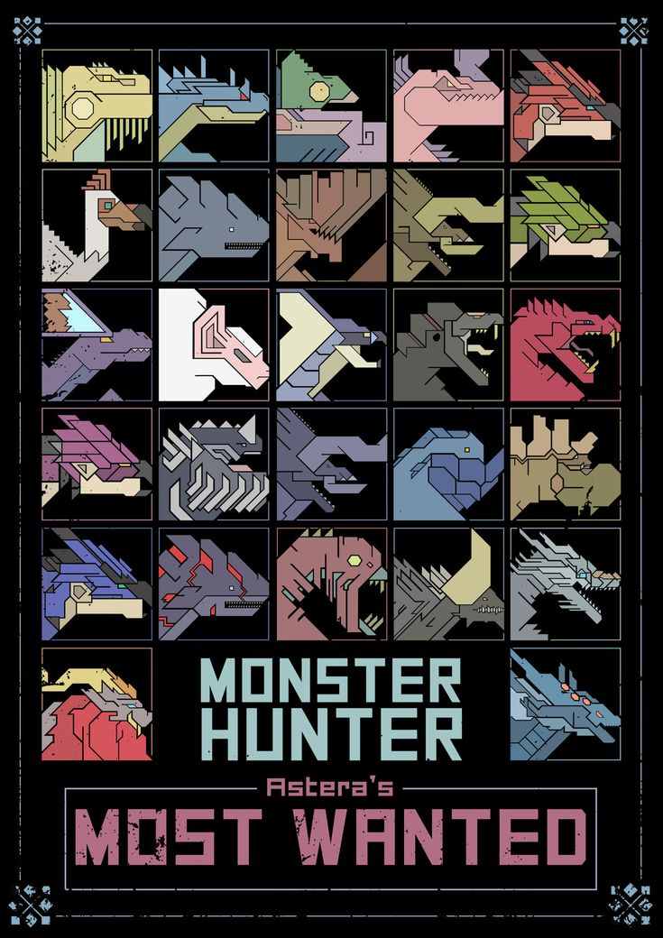 A poster design I have worked on for the newest edition of Monster Hunter series.