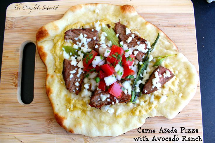 This shop has been compensated by Collective Bias, Inc. and its advertiser. All opinions are mine alone. #WhatsYourRanch #CollectiveBias Carne Asada Pizza with Avocado Ranch – Traditional pizza dough with carne asada, grilled green onions, pico de gallo, and queso fresco with Hidden Valley Ranch Avocado as a creamy sauce. If you've spent any time on my blog, followed me for a bit, you know I have a thing for pizza. Pizza is no longer a slab of bread, some sauce, cheese, and pepperoni. Pizza…