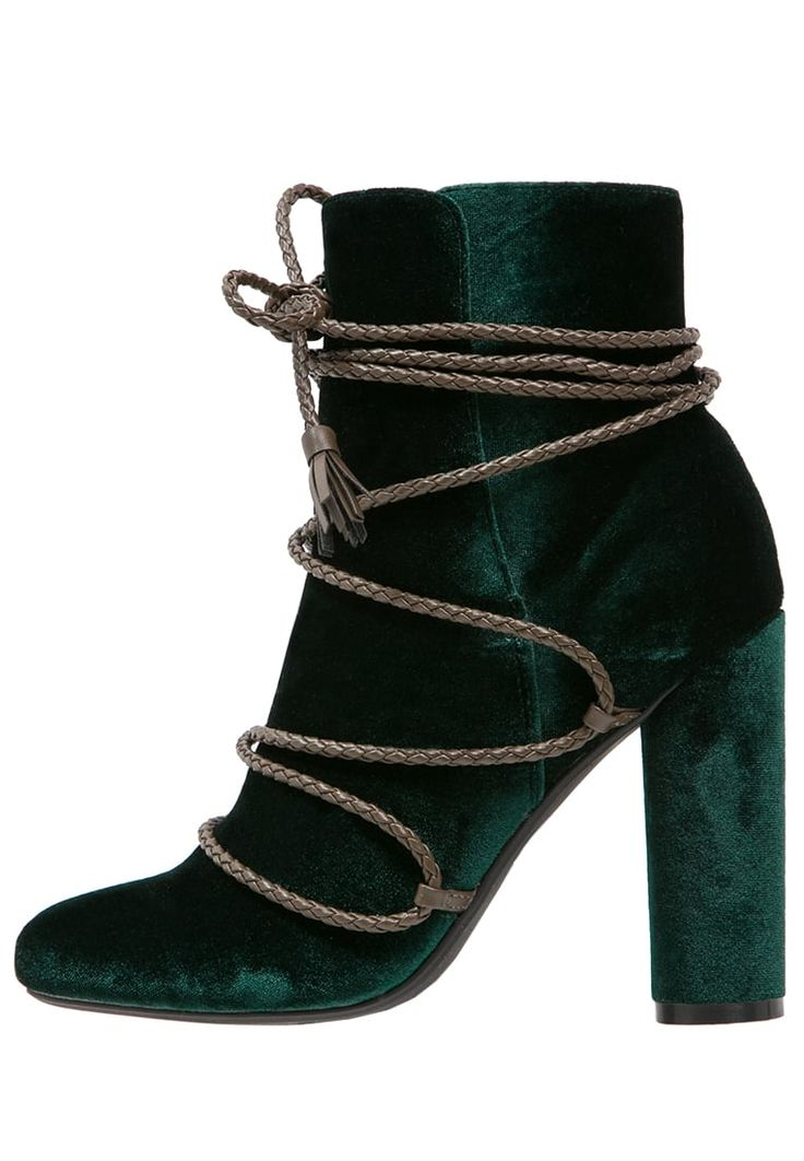 Missguided High heeled ankle boots - green for £45.99 (07/10/16) with free delivery at Zalando