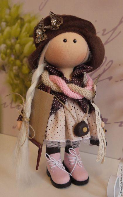 Коллекционные куклы ручной работы. Ярмарка Мастеров - ручная работа. Купить Текстильная куколка-малышка художница Тори. Handmade. блондинка