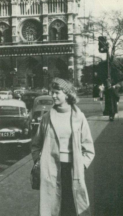 Sylvia Plath in Paris, 1956.