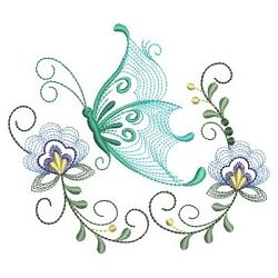 Rippled Dancing Butterflies Set, 11 Designs - 3 Sizes! | Floral - Flowers | Machine Embroidery Designs | SWAKembroidery.com