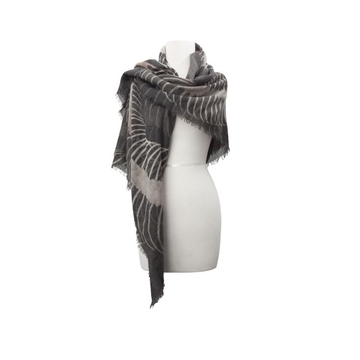 OSSA SERPENS SCARF | AVGVS  - snake skeleton print, wool/cashmere, made in Italy, free worldwide shipping