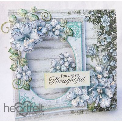 Heartfelt Creations - Pale Blue Blushing Rose Clusters Project
