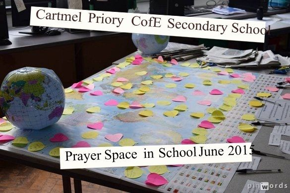 Cartmel Priory CofE Secondary School's Prayer Space in School week, June 2015