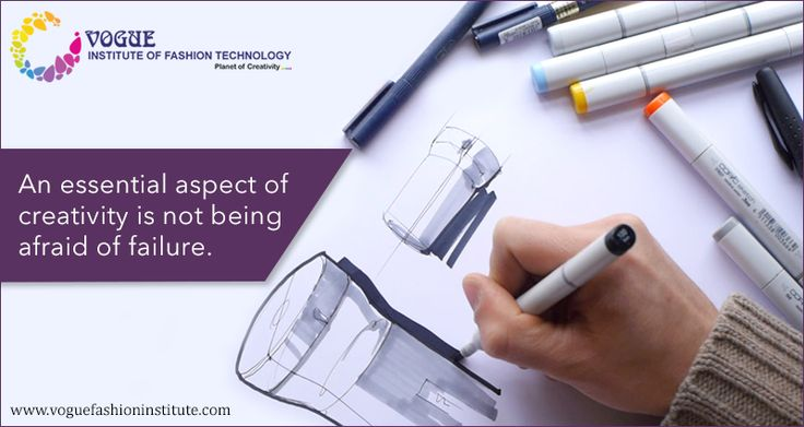 An essential aspect of creativity is not being afraid of failure.  Explore your creativity and push your boundaries by working and learning from the best minds in the textile design industry. Take up our courses on product design and carve a career for yourself in it! http://www.voguefashioninstitute.com/product-designing-courses-bangalore-india/ #VIFT #ProductDesign