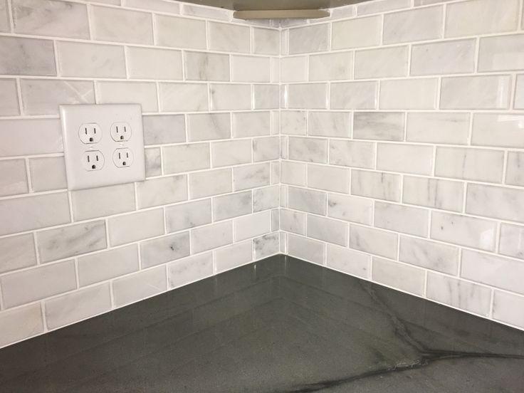 "Beveled Brick 2×4"" Subway Tile Mosaic Carrara Marble Honed"