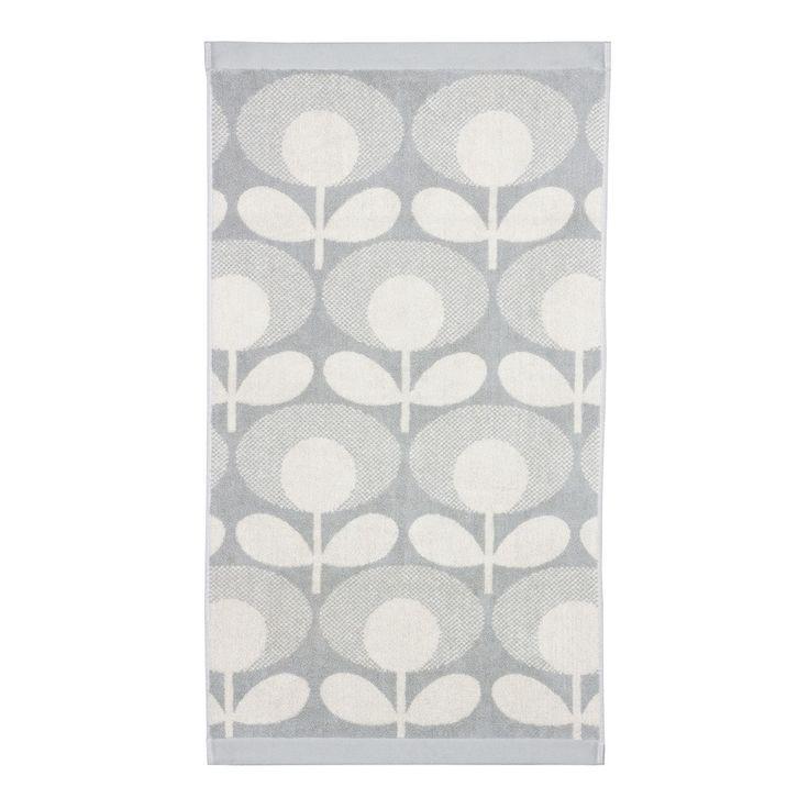 Orla Kiely - Speckled Flower Oval Towel - Granite - Bath Towel