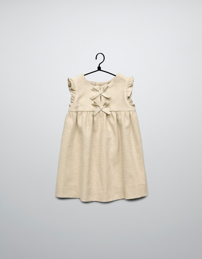 dress with bib front with bows - Dresses - Baby girl (3-36 months) - Kids - ZARA United States