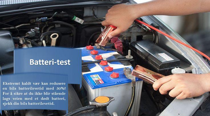 Batteri-test det er en god ide å teste bilbatteriet ditt en gang i året. Hvis bilen din er mer enn 5 år gammel (og avhengig av hvor mye du kjører), kan det være på tide å se på batteriet. Ikke vent til motoren din nekter å starte midt i en snøstorm når det er -20ºC utenfor! #sommerdekkene