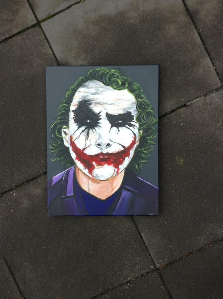 RTMDesigns : Custom Order - The Joker #thejoker #batman #artwor...