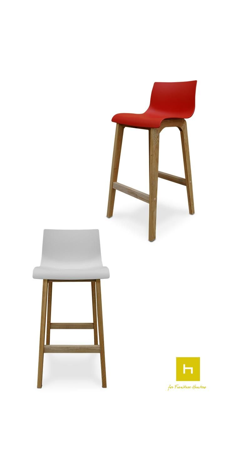 The Zero Bar Stool has an elegantly simple design that will complement a variety of different spaces. This bar stool is available in White, Lime, Black & Red so you can match with your existing decor. #barstools #furniturehunters #dining