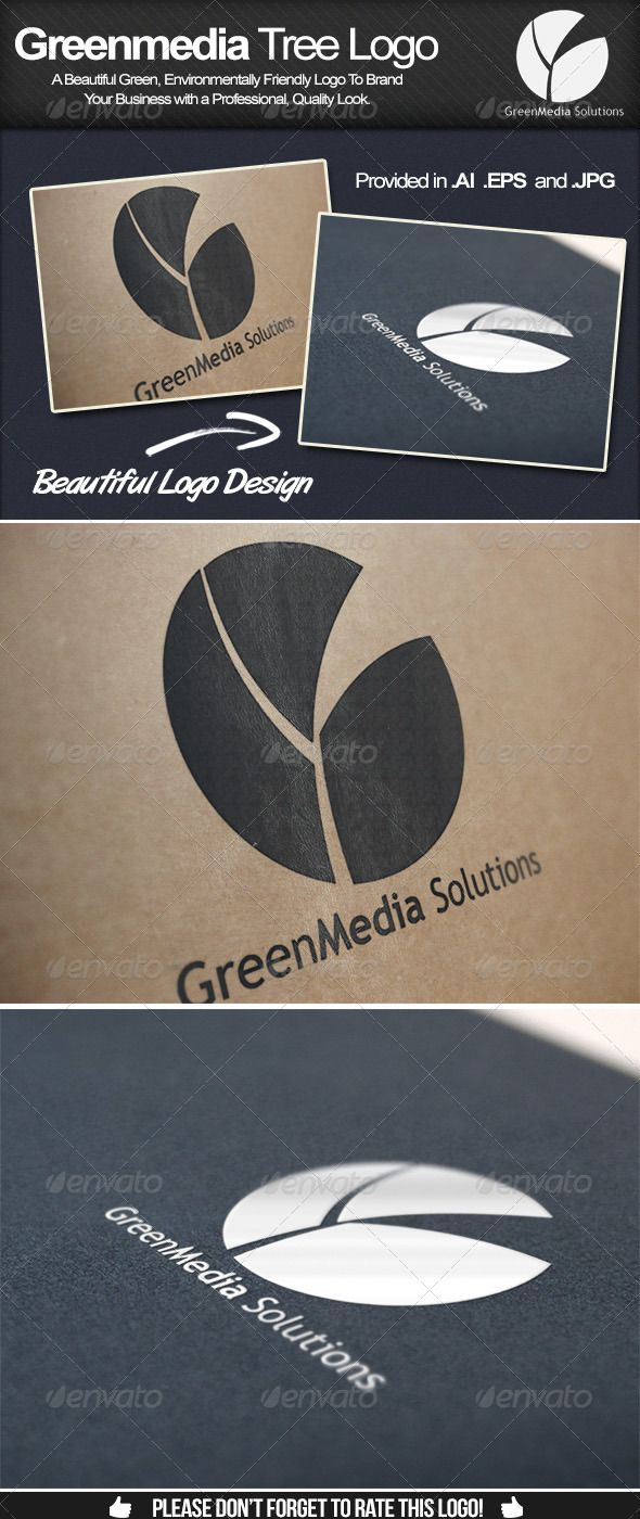 This is a beautiful eco friendly environmentally friendly logo design for sale on Graphic River. Companies perform so much better when they have a 'green' approach to the environment, make sure you improve your company image today with this incredible logo!