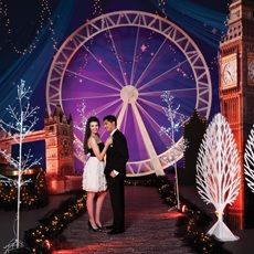 London makes a fantastic #Prom theme. Use props like Big Ben and a Ferris wheel to set the scene and then add glittering lights and a brick walkway as finishing touches.