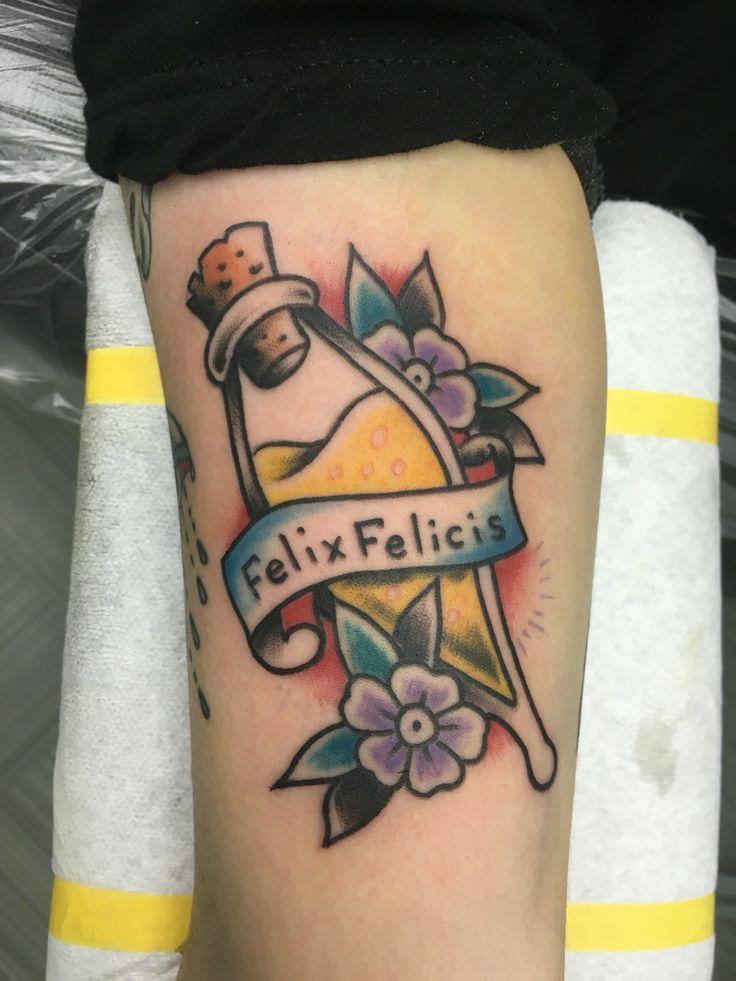 Felix Felicis Harry Potter tattoo #58BodyArt   Think