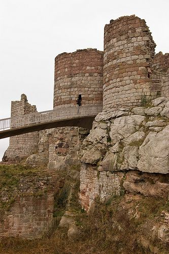 Beeston Castle is a former royal castle in Cheshire, England. It was built in the 1220s by Ranulf de Blondeville, the 6th Earl of Chester.