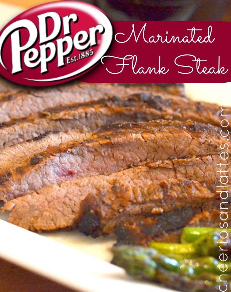 Dr. Pepper Marinated Flank Steak #drpepper #steakmarinade #steakrecipe #steak