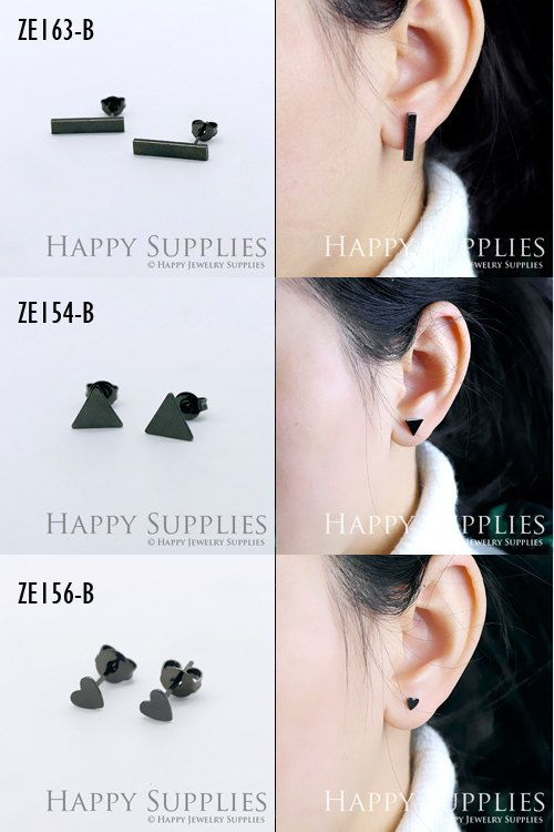 10Pcs 5 pairs Nickel Free  High Quality Gun Black от happysupplies