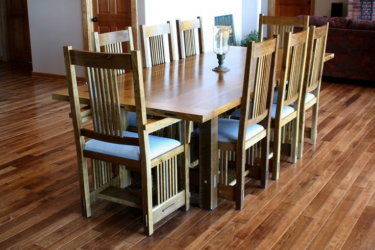 Dining Room Affordable Dining Room Furniture Sets With Rustic Dining Table 8 Chairs Above Laminate Wood Floor With White Paint Wall Use Single Wood Door The Different Types of Dining Room Furniture Sets