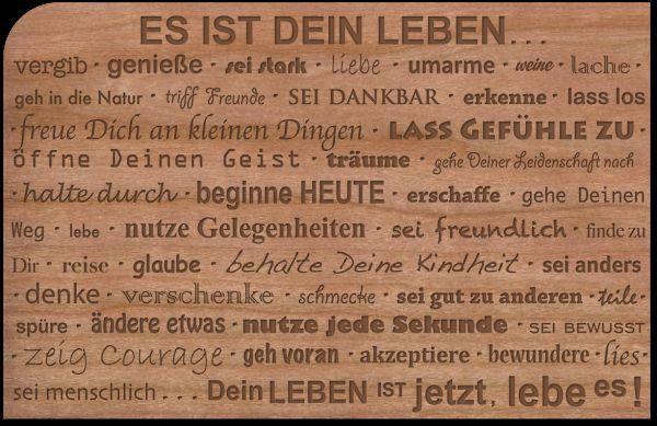 Holzpost, Grußkarte aus echtem Kirschbaumholz 14x9cm inkl. DIN C6 Umschlag!