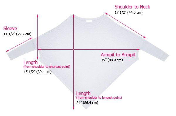 AnnaKastle Women's Boat Neck Long Dolman Sleeve Asymmetrical Poncho Sweater Size SM in PaleBrown