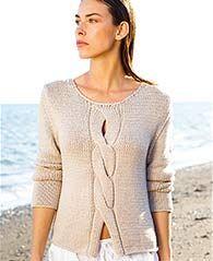 Gratis Strickanleitung: lässiger #Pullover mit #Zopfmuster / free knit tutorial for sweater cable stich via lanagrossa.de