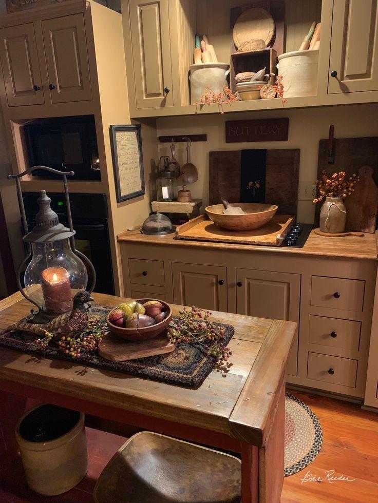 Small Primitive Kitchen Country Decor Primitive Kitchen Primitive Kitchen Cabinets Home Kitchens