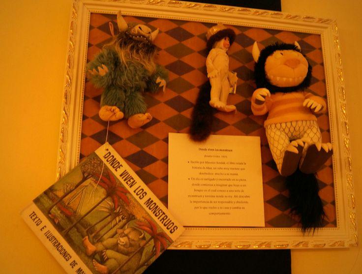 Donde viven los monstruos es un libro infantil creado por Maurice Sendak escrito en 1963 y es la historia de MAX, un niño incomprendido y rebelde cuya mayor fantasía es ser un monstruo que aterrorice a cualquiera... que miedo!