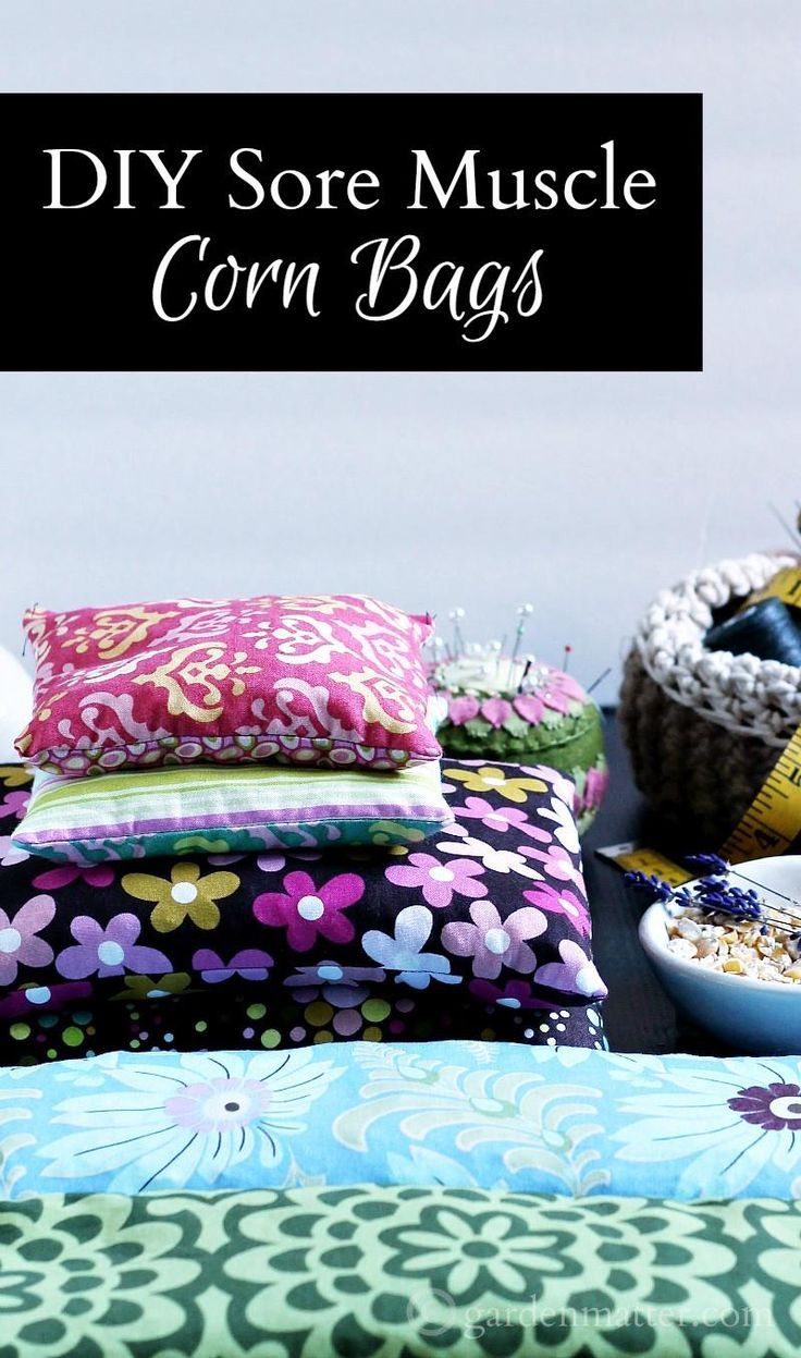 This easy DIY sore muscle corn bag project is super fun and affordable.