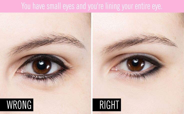 You have small eyes and you're lining your entire eye.13 Reasons Your Eyeliner Looks Tragic - GoodHousekeeping.com