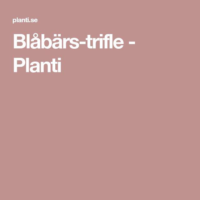 Blåbärs-trifle - Planti