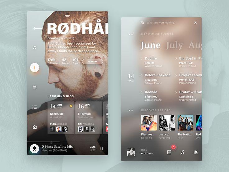 Events app - artist & home by kohutpiotr