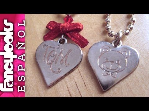 Etching metal pendant with Silhouette Curio (in Spanish) - YouTube