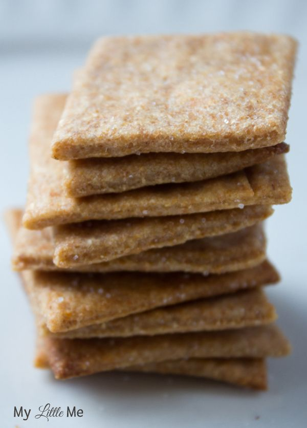 Homemade Honey Wheat Thins Crackers - My Little Me