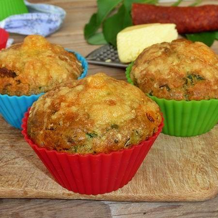 Medvehagymás-kolbászos muffin Recept képpel - Mindmegette.hu - Receptek