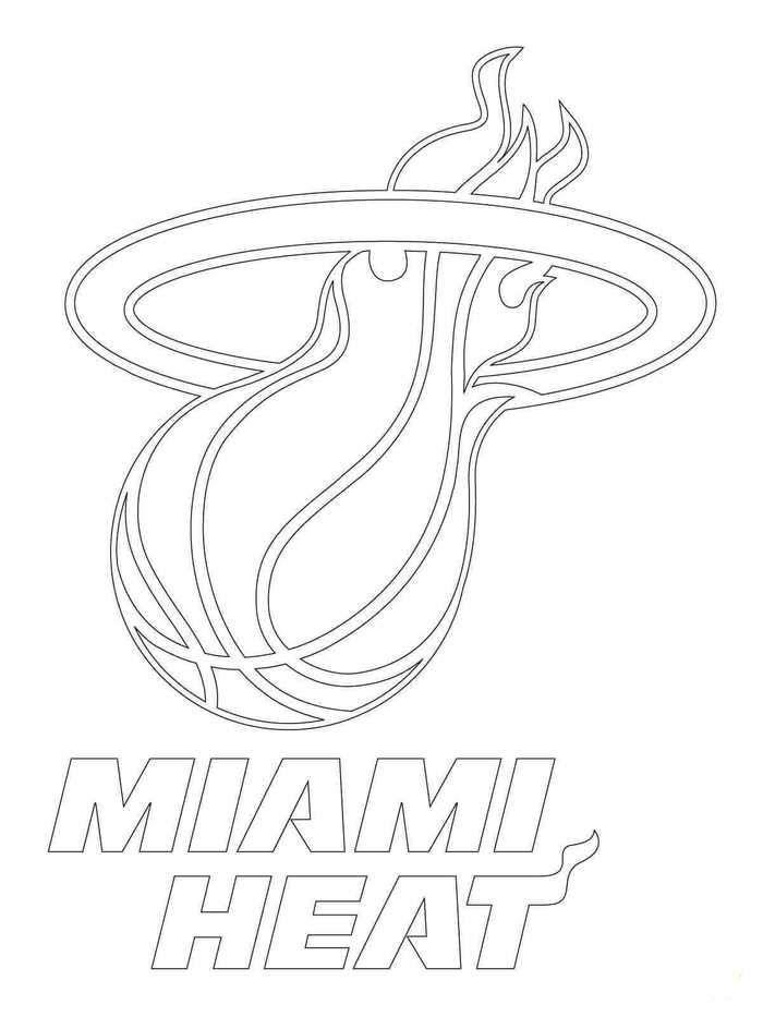 Nba Coloring Pages Miami Heat Miami Heat Logo Miami Heat Coloring Pages
