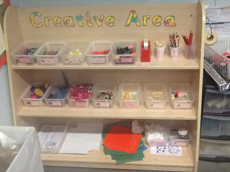 Creative area resource shelves