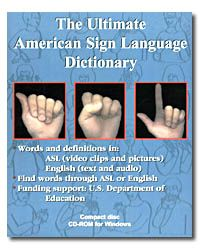 140 best deaf asl bookdvd images on pinterest deaf culture ultimate american sign language dictionary cd rom fandeluxe Choice Image
