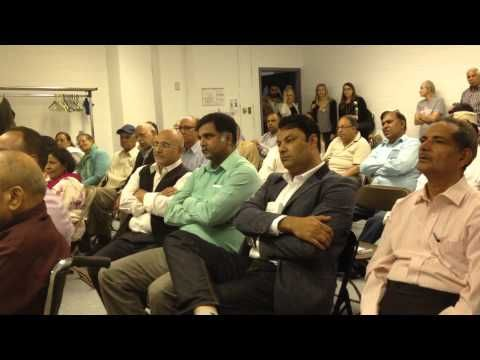 Naseer Sahibji, Editor of Urdu Times Montreal, reciting a poem at a Mush...