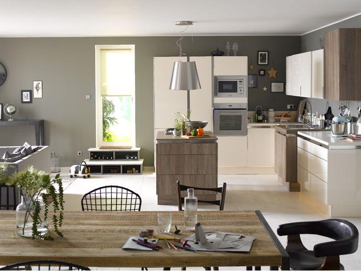 Cool des cuisines conviviales pour les grandes familles for De cuisines conviviales