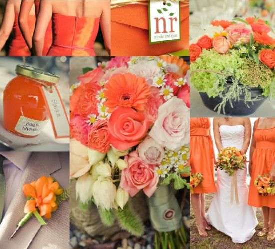 these shades of peach and orange are so pretty together! #WeddingPlanning #NewportWedding #BostonWedding