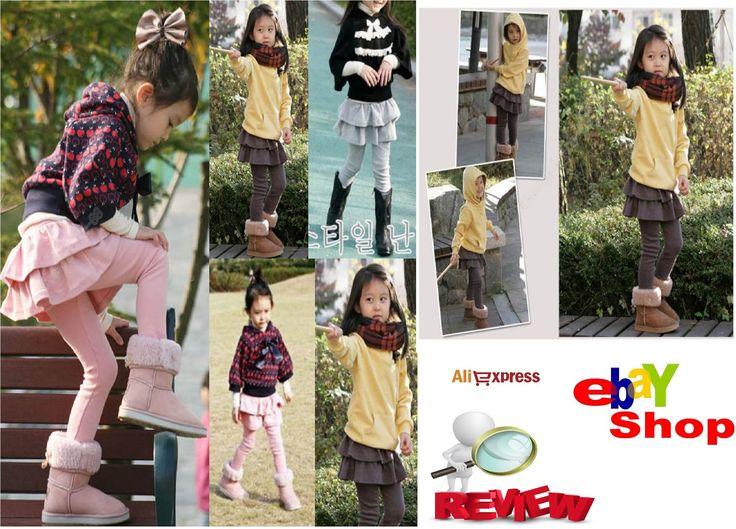 Cheap online shopping Haul Cute Girls Autumn Winter Gray/Coffee/Pink Leg...