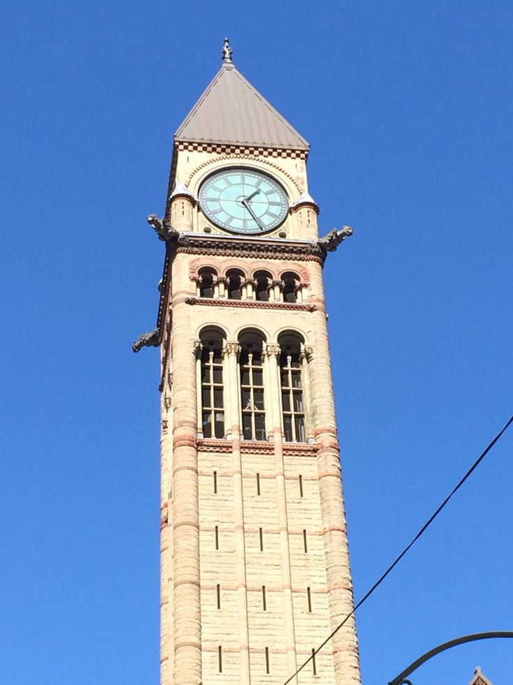 Clock Tower at Old City Hall (Romanesque Revival, 1899) in Downtown Toronto. #toronto #ontario #canada #travel #clocktower #architecture