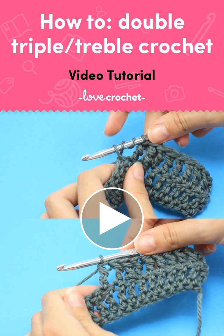 How to make a triple treble crochet stitch