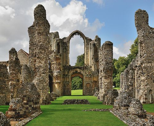 Castle Acre Priory, in Castle Acre, Norfolk, England (by Blagnys).